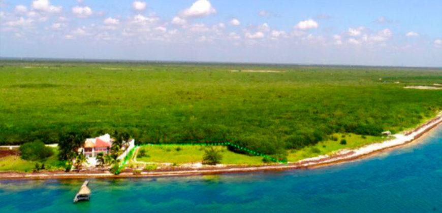 Terreno con frente de Playa en venta en Puerto Morelos